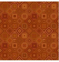 Brown abstract diagonal square tile mosaic vector