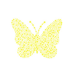 Butterfly in yellow design vector