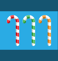 candy cane christmas candy vector image