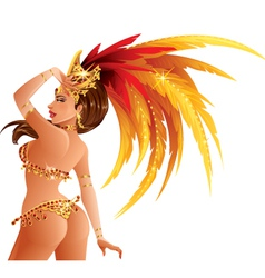 Carnival Dancer vector image
