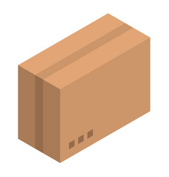 carton box icon isometric style vector image