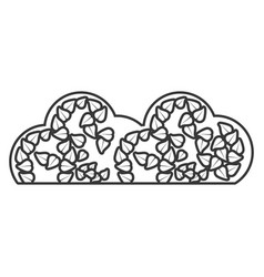 cloud organic food sticker outline vector image