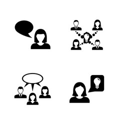 Communication simple related icons vector
