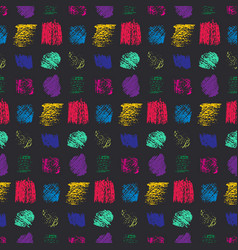 Contrast color grunge scratched squares pattern vector