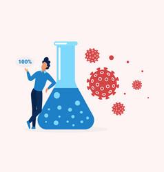 coronavirus vaccine concept medicine treatment vector image