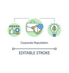 Corporate reputation concept icon vector