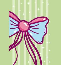 Cute bow cartoon vector