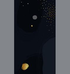 Dark blue artistic background with gold confetti vector