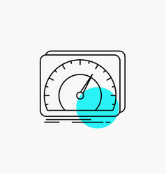Dashboard device speed test internet line icon vector