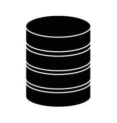 data center disk icon vector image