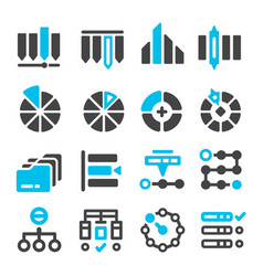 datacategory management icon vector image
