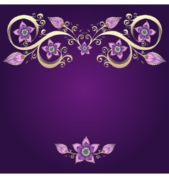 Decorative floral background with flowers vector image