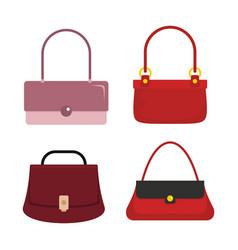 flat handbags set vector image
