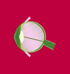 Flat shading style icon eye vector