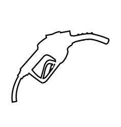 Gasoline dispensing gun isolated icon design vector