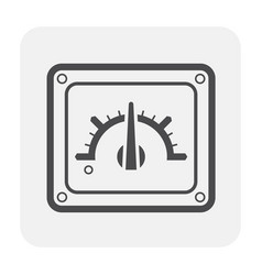 gauge meter icon vector image