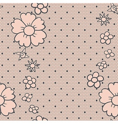 Gentle dotted lace vector