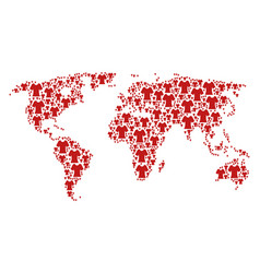 global map pattern of lady t-shirt items vector image