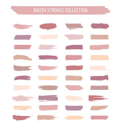 hand painted pastel brush strokes vector image