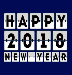 Happy 2018 new year banner vector