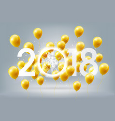 happy new year 2018 celebration golden balloon vector image
