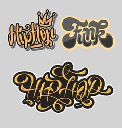 Hip hop rap music related vector