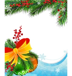 Holly berry and Christmas baubles vector image