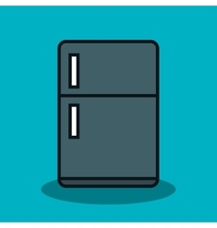 Home appliance fridge isolated icon vector