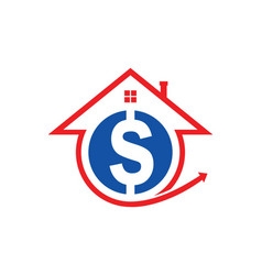 House sale money logo vector