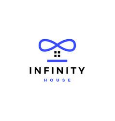 Infinity house home mobius logo icon vector