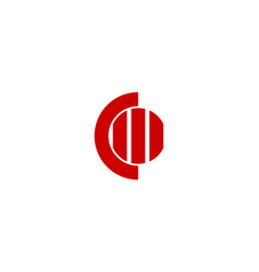 initial c o logo vector image