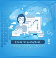 leadership coaching web banner with copy space on vector image