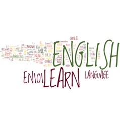 Learn english text background word cloud concept vector
