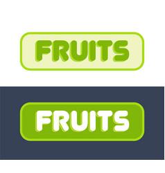 logo for fruit market vector image