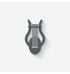lyre music design element vector image