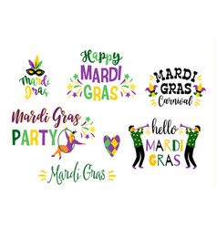 Mardi gras design element for carnival vector