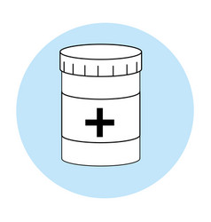 medicine bottle symbol vector image