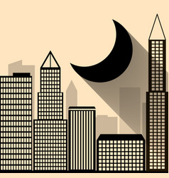 night city dark urban scape night vector image