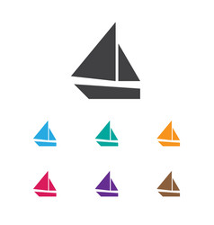 Of camping symbol on boat icon vector