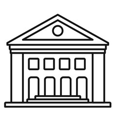 old courthouse icon outline style vector image