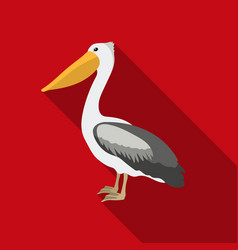 Pelican icon in flate style isolated on white vector