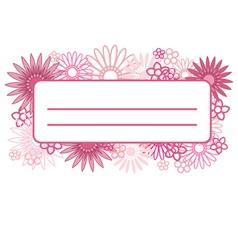 Pink flower design element vector image