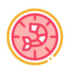 pizza shrimp icon outline vector image