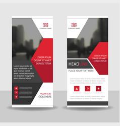 Red black business roll up banner flat design vector