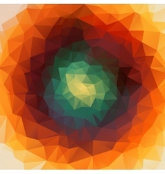 Round abstract 2D geometric colorful background vector image