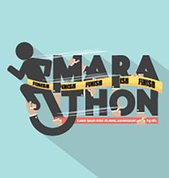 Runner With Marathon Typography Design vector image