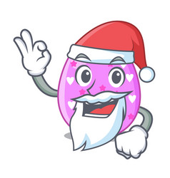 santa color the easter eggs isolated mascot vector image