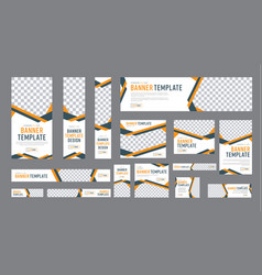 Set of web banners of standard size with a place vector