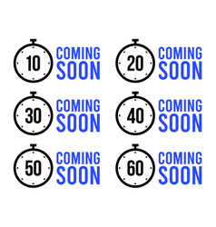 set simple timers coming soon or countdown vector image