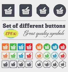 Shopping Cart sign icon Online buying button Big vector image